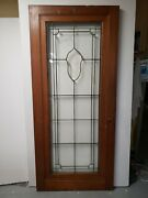 Antique Door With Beveled Leaded Glass Architectural Salvage