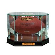 New Drew Brees New Orleans Saints Glass And Mirror Football Display Case Uv