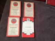 4x Vintage Maps Cloth One Inch Map Of England And Wales