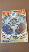 Vintage 1963 Yankees Vs Dodgers Ws Program Signed By Mantle, Drysdale And Others