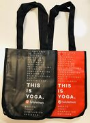 Lululemon Small Limited Edition Holiday 2018 Reusable Tote Shopper Bag Lot Of 2