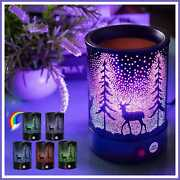 Hituiter Fragrance Wax Melts Warmer With7 Colors Lighting Oil Lamp Scented Candl