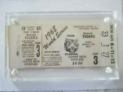 1968 World Series Ticket Tigers- St Louis Cardinals Games 3 And 4
