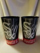 Chicago White Sox Large Plastic Drinking Glasses 2016 Coca Cola Set Of 2