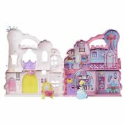 Disney Princess B6317 Castle Pink - Playset And Carrying Case With Cinderella...
