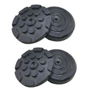 4pc Round Heavy Duty Car Truck Post Lift Arm Pads Pinch Rubber Repair Tools