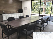 8 Ft Foot Conference Table And 6 Chairs Set Top Has Grommets And Legs With Doors