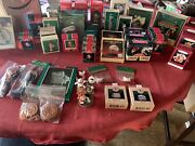 Hallmark Christmas Ornament Lot. In Original Boxes. 80andrsquos And 90andrsquos Plus Extras