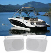 Pair Rockville Hp65s 6.5 Marine Box Speakers With Swivel Bracket For Boats