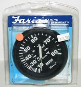 New Faria Marine Instruments Boat 80 Mph Mechanical Speedometer