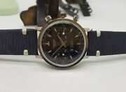 Rare Vintage Oriosa Chronograph Black Dial Manand039s Watch
