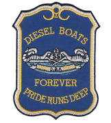 3.75 Navy Diesel Boats Forever Pride Runs Deep Embroidered Patch