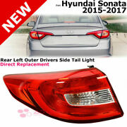 For 15-17 Hyundai Sonata   Rear Left Outer Driver Side Tail Light Reverse Lamp