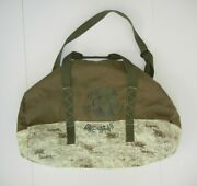 Converse One Star Military Green Army Style Large Duffle Bag Travel Gym Gear Bag