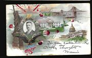 Htf 1901+ Teddy Roosevelt Presidential Postcard Design As 1900 Pmc And 1908 Taft