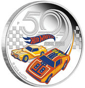 2018 50 Years Of Hot Wheels 1 Oz Silver Proof Perth Mint