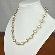 Sarah Coventry Gold Toned Metal And Plastic Pearl Costume Jewelry Choker Necklace