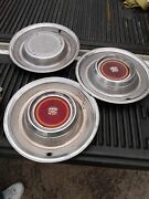 Set Of 3 Vintage Cadillac 15 In Hubcaps