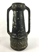 Double Handled Ceramic Vase Art Deco Arts And Crafts Period Chalkware Pottery
