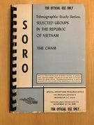 Rare Vietnam 1965 Special Op Ethnographic Study Series Selected Groups The Cham
