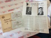 Hammond, Indiana. 1945 Optimist Town Hall Booklet , Tickets, And Poster.