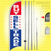 Buy Sell Trade - Windless Swooper Flag Kit 15and039 Feather Banner Sign Rwb-h