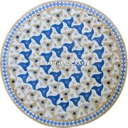 Marble Corner Table Top Lapis Precious Stones Inlay Work Home Decors Gifts H3896