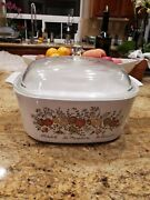 Vintage Corning Ware A-3-b 3 Quart Casserole Dish W/ Pyrex A9c Lid-spice Of Life