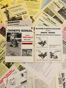 Troy-bilt Horse I Roto Tiller Owners Manual Parts Catalog Instructions And More