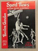 April 21 1963 Nba Finals Program Celtics/lakers Cousy's Last Game In The Garden