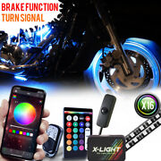 Motorcycle Led Light Kit Bluetooth Enabled All Color Lighting Neon Glow W/switch