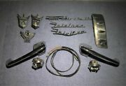 1956 Ford - 1 Lot Mixed Bag Of Misc. Parts - Door Handles, Emblems, Switches