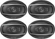 4 Pioneer Ts-a6990f 700w Max 6x9 A-series 5-way Coaxial Car Audio Speakers