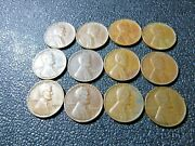 1944 P And D Wheat Pennies Us Coin Lot Of 12