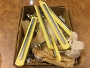 Vintage 1950/60 Door Handles New Old Stock Yellow And Chrome
