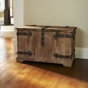 Large Decorative Storage Trunk Victorian Antique Style Wood Chest Rustic Toy Box