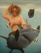 Rodeo Shark Adult Size - Carnival Face Cut Out. Party Photo Op. Face In Hole.