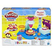 Kids Play Doh Cake Party Kitchen Creations Playset Color Molds 5 Cans Toys Set