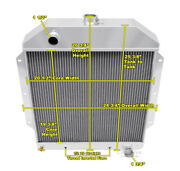 2 Row Reliable Champion Radiator For 1949 50 51 52 1953 Ford Cars Chevy Engine