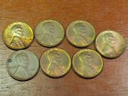 7 Au/bu Lincoln Wheat Pennies 1920 And 1930and039s