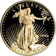1994-w American Gold Eagle Proof 1 Oz 50 - Coin In Capsule