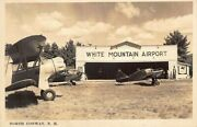 North Conway Nh White Mountain Airport Airplanes Real Photo Postcard