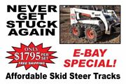 Over The Tire Steel Skid Steer Tracks For New Holland Ls150