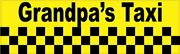 10in X 3in Grandpaand039s Taxi Magnet Car Truck Vehicle Magnetic Sign
