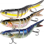 Truscend Fishing Lures For Bass 4.9 Multi Jointed Swimbaits Slow Sinking Hard