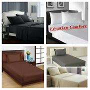 Egyptian Comfort 1900 Series Flat Bed Sheets Fullqueen King Size Bed Top Sheet