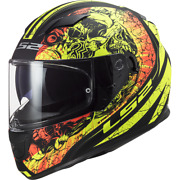 Ls2 Ff320 Stream Throne Yellow Full Face Dual Visor Motorcycle Scooter Helmet