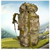 Tactical Army Military Camo 80l Trekking Survival Bug Out Bag Backpack Rucksack