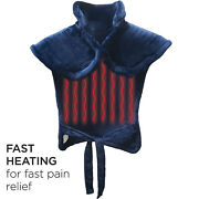 Heating Pad For Full Back Shoulders Neck Andbull24 X 33andbull Use Wet Or Dry - Navy