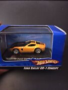 Hot Wheels Ford Shelby Gr-1 Concept Yellow 187/ho Train Scale W/case N0237 Htf